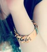 @特价@欧美新款饰品 时尚夸张金属链条手链 女手镯