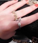 人气混搭女王范大牌十字珍珠关节戒指开口戒指