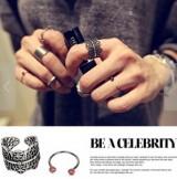 厂家直销 小额批发 时尚复古金属食指指环戒指套装女