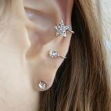 日韩新品 甜美闪钻星星耳骨钉独特耳夹耳钉耳环