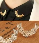 韩国衬衫西装领针 韩国立体金属麦穗小胸针 情侣领扣配饰