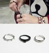 时韩国三件套个性指环套戒复古三件套