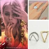 欧美外贸饰品 简单两用 V 形 戒指