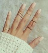 速卖通新款戒指地摊热卖叶子关节戒指6件套个性百搭指环