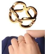 金属链条金色 款时尚欧美 速卖通新款戒指