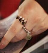 新款和平镶钻戒指5件套个性指环复古食指关节戒潮人装饰品