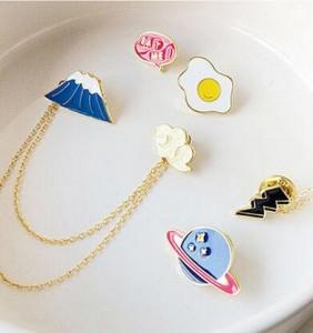 【10-19左右】韩国饰品活泼可爱富士山星球煎蛋招财猫云朵领针胸针别针