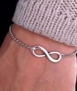 欧美外贸饰品 时尚 简洁复古吉祥数字个性8字手链
