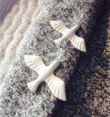 韩国饰品文艺清新复古金属白色鸽子和平鸽胸针胸花徽章领针