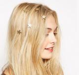 女式旅游纪念镶金四叶草头饰发饰头饰山东青岛月亮星星