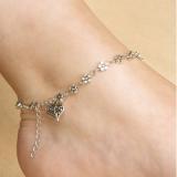 复古银色 藏银镂空梅花小花脚饰 桃心心形脚链 手链 ebay爆款