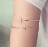 欧美饰品 极简约风尚 铜铸镂空三角 臂环手饰
