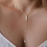 【5-15左右】欧美外贸饰品 个性简约 金属条 几何三角流苏女式短款项链