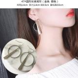 日韩国欧美耳环气质简约复古长款几何圆圈耳坠耳线耳钉耳饰女
