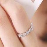 淑女星光点点回眸一笑戒指