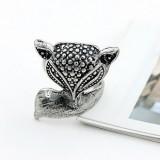 韩版时尚戒指-狐狸