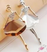 @特价@(白色)韩版饰品批发 芭蕾舞女孩 时尚气质胸针