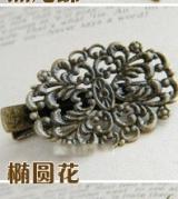 欧美复古发夹边夹/铜片复古发饰/外贸古铜怀旧发夹