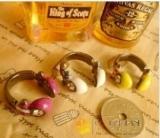 欧美外贸饰品 时尚耳机闪钻戒指 指环