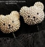 可爱轻松熊 熊猫 猫咪 满钻 防尘塞