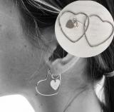 欧美几何金属镂空爱心性街拍时尚耳环