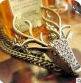 外贸 复古满钻神秘鹿头夸张造型手链