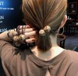 韩国豹纹毛球橡皮筋发绳发圈