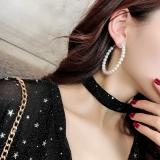 韩国ins冷淡风仙女气质个性百搭珍珠夸张大圆圈耳环耳圈耳饰