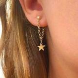 【4-8左右】欧美其中短款星星后挂耳钉