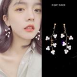 韩国简约珍珠树枝气质超仙网红淡风耳钉