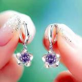 韩国气质超闪水晶锆石花朵耳扣