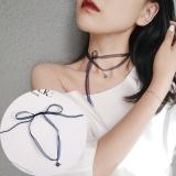 韩国清凉雪纱星空颈带系带choker项链夏季款