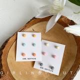 【4-10左右】韩国糖果色组合夏天清新百搭可爱彩色简约小耳钉