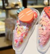 韩国彩色透明ins网红bb水果流沙发夹