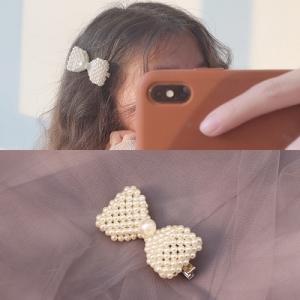 韩国网红一字爆款珍珠bb夹发卡夹子头饰