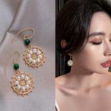 韩国复古新款气质高级感小众法式珍珠耳环