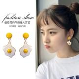 S925银针韩国小清新创意可爱煎蛋耳钉