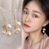 韩国气质名媛风长款珍珠新款高级感耳环