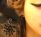 韩国爆款月亮女款时尚耳饰气质耳钉