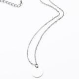 【4-5左右】欧美简约小圆片细链条气质锁骨链 简单项链 百搭项饰配饰批发