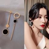 【4-5左右】S925银针韩国简约几何不对称小众时尚百搭耳钉