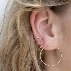 欧美流行时尚个性新款圆圈女式耳环套装货源批发