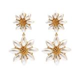 韩国2020新款时尚高级感金色小雏菊夸张甜美长款耳钉