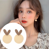 S925A银针韩国气质简约爱心焦糖泡芙小巧耳钉