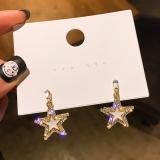 S925银针韩国气质时尚五角星2020新款网红高级感耳钉