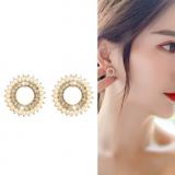 S925银针韩国水晶珍珠ins超仙网红新款气质耳钉