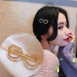 韩国眼镜边镶钻个性网红简约发饰一字夹
