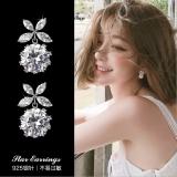 S925银针韩国蝴蝶高级感锆石奢侈小巧气质耳钉