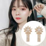 S925银针韩国明星网红同款星星满钻高级感气质百搭耳钉