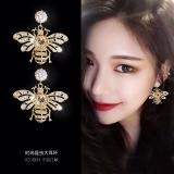 S925银针韩国小蜜蜂新款个性创意百搭高级感气质耳钉